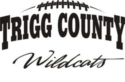 Trigg football logo black on white